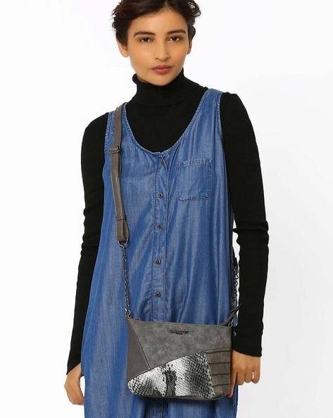 Lucila Textured Sling Bag By Carlton London ( Grey )