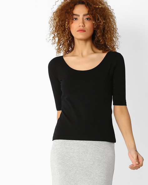 Top With Strappy Back By Ginger By Lifestyle ( Black )