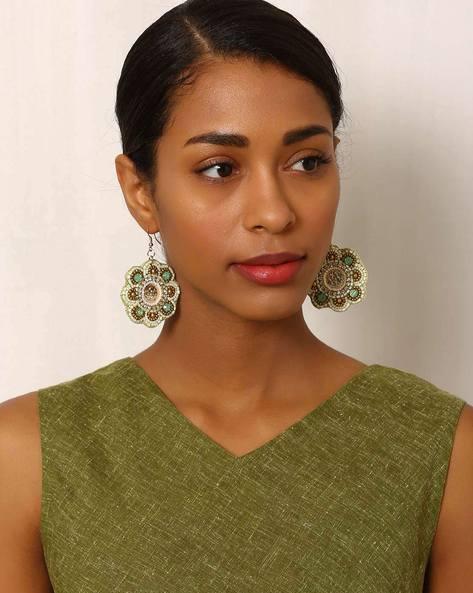 Beaded Dangler Earrings By Indie Picks ( Multi ) - 460042558001