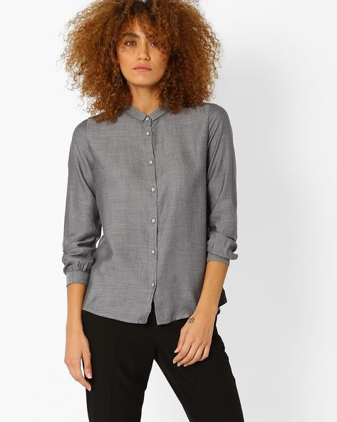 Shirt With Slim Collar By LEVIS ( Grey )