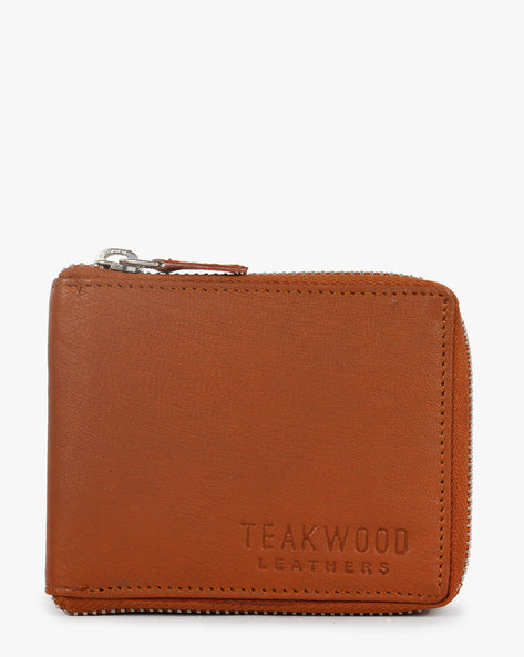 Leather Bi-Fold Wallet By TEAKWOOD LEATHERS ( Tan )