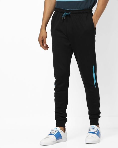 Printed Joggers With Drawstring Fastening By PROLINE ( Black )