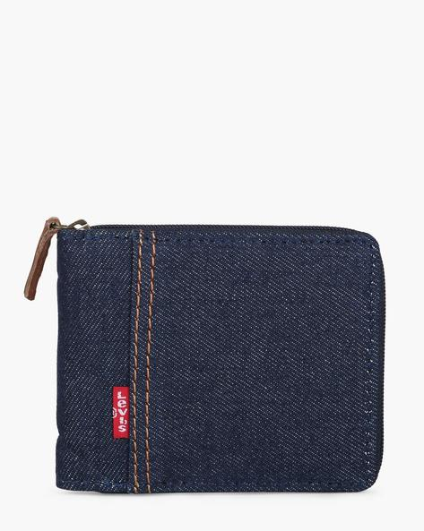 Bi-Fold Wallet With Zip Closure By LEVIS ( Darkblue )