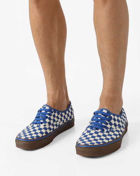 Authentic Checked Casual Shoes By Vans ( Blue )