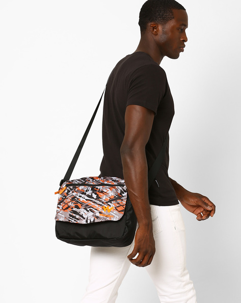 Printed Messenger Bag By Wildcraft ( Orange )