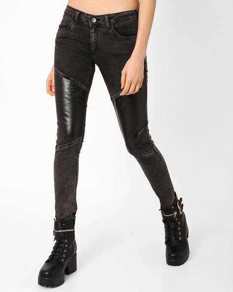 Low-Rise Skinny Jeans By AJIO ( Black )