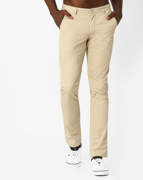 Slim Fit Trousers By JOHN PLAYERS ( Yellow )