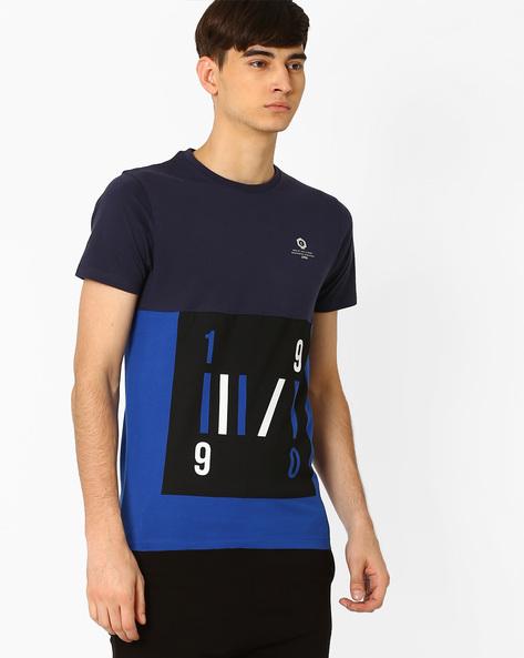 Slim Fit Crew-Neck T-shirt By Jack & Jones ( Blue ) - 460031295003