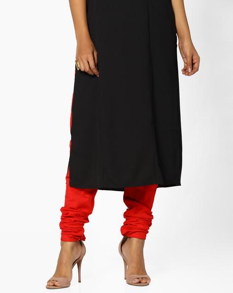 Churidar Pants With Drawstring Waist By AJIO ( Pink )