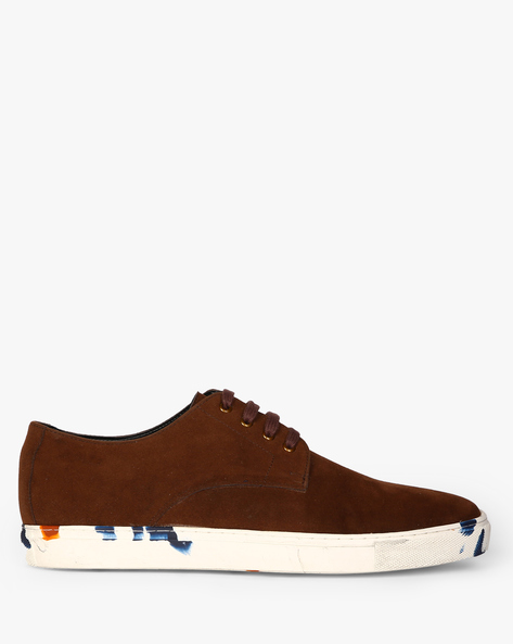 Lace-Up Sneakers With Printed Midsole By Funk ( Darkbrown )