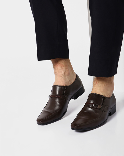 Slip-Ons With Elasticated Gussets By ALBERTO TORRESI ( Brown )