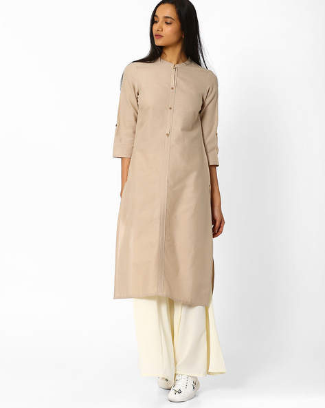 Straight Kurta With Button Placket By AURELIA ( Assorted )