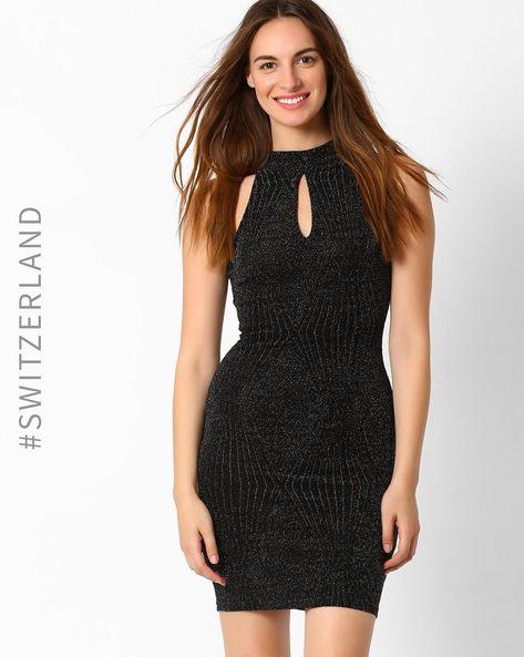 Shimmery Bodycon Dress By TALLY WEiJL ( Black )