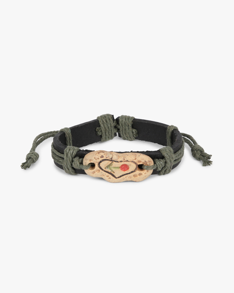Braided Bracelet With Knot Clasp By ALPHA MAN ( Green )