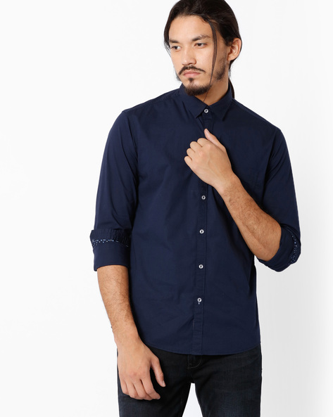 Classic Slim Fit Shirt With Patch Pocket By Killer ( Assorted )