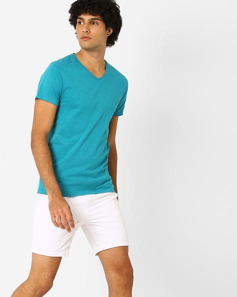 Slim Fit Cotton T-shirt By Jack & Jones ( Blue )