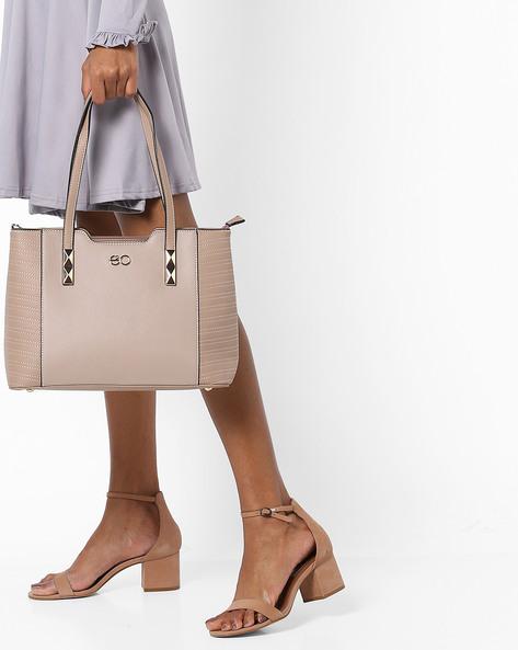 Panelled Shoulder Bag By E2O ( Pink )