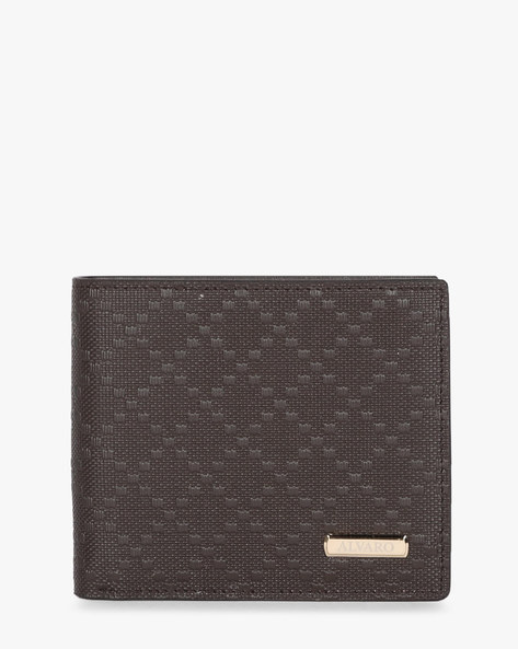 Textured Genuine Leather Wallet By ALVARO CASTAGNINO ( Brown )