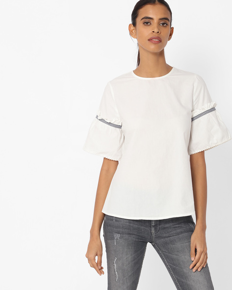 Top With Bell Sleeves By Vero Moda ( White )