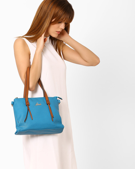 Textured Shoulder Bag By Lavie ( Turquoise )