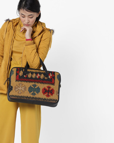 Printed Laptop Messenger Bag By Project Eve ( Multi )