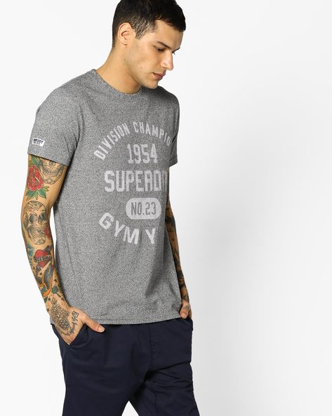 Printed Crew-Neck T-shirt By SUPERDRY ( Al6 )