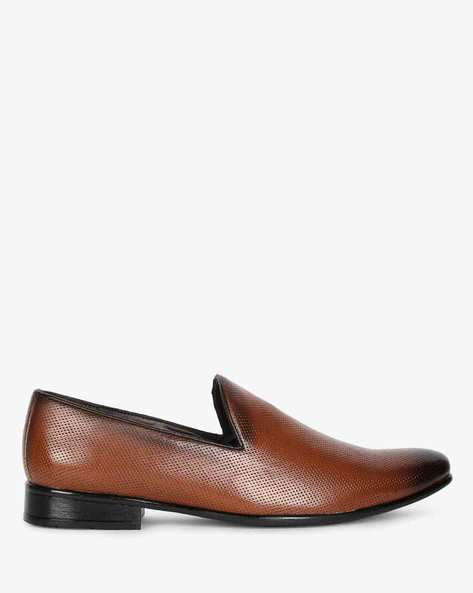 Perforated Slip-On Formal Shoes By SAN FRISSCO ( Brown )