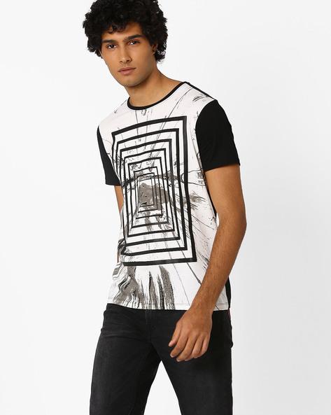 Cut & Sew Printed T-shirt By AJIO ( Offwhite )