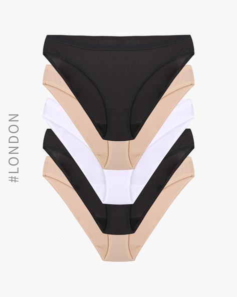 Pack Of 5 Bikini Panties By Marks & Spencer ( Natural )