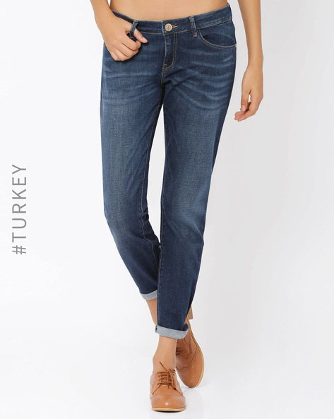 Lightly-Washed Slim Fit Jeans By Cross Jeans ( Lightblue )
