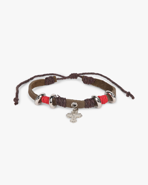 Bracelet With Metal Accents By ALPHA MAN ( Black )