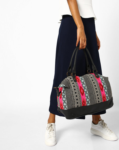 Tote Bag With Removable Strap By Kanvas Katha ( Multicolor ) - 460103530001