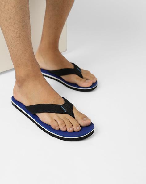 Colourblock Flip-Flops With Signature Branding By CONVERSE ( Blue )