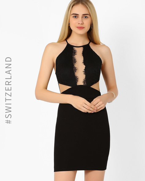 Bodycon Dress With Lace By TALLY WEiJL ( Black )