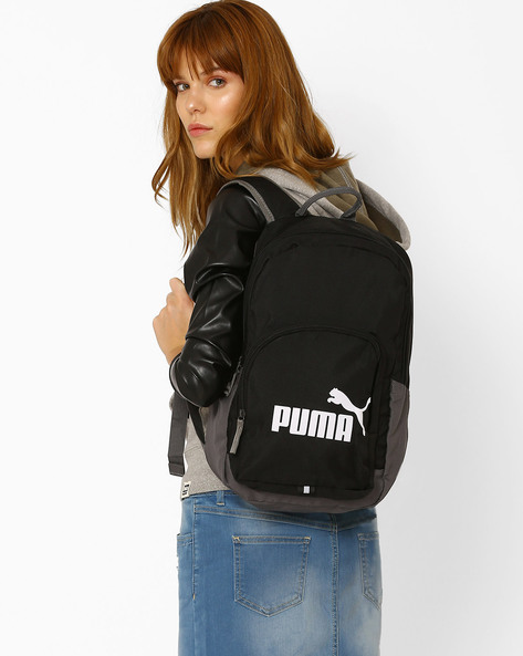 Graphic Print Backpack By Puma ( Black )