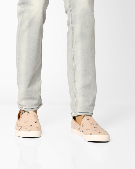 Printed Slip-On Canvas Shoes By UNITED COLORS OF BENETTON ( Beige )