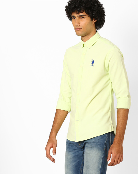 Regular Fit Shirt With Button-Down Collar By US POLO ( Assorted ) - 440759646002