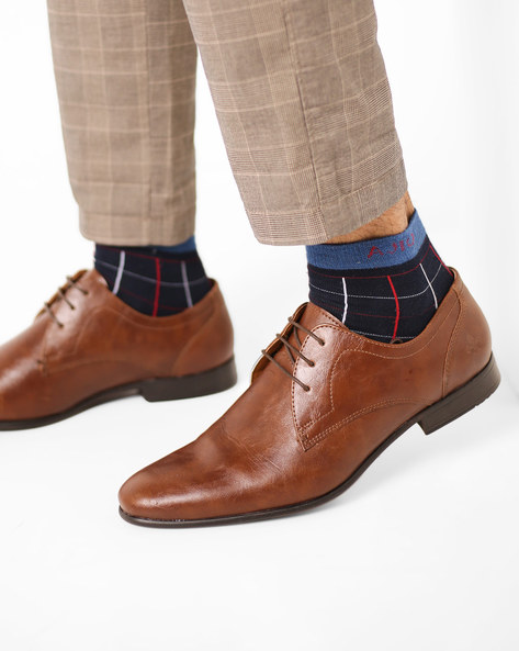 Low-Top Derby Shoes By Bond Street By Red Tape ( Tan )