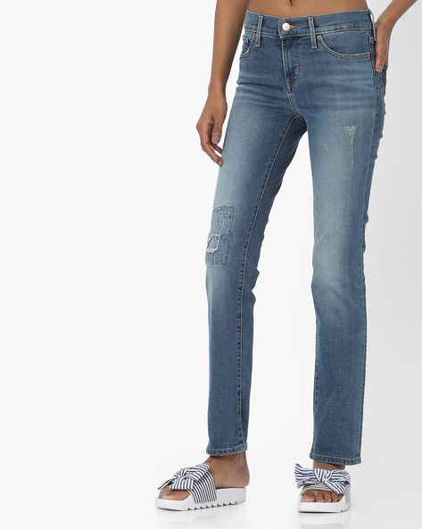 312 Skinny Fit Distressed Jeans By LEVIS ( Blue ) - 460098815003