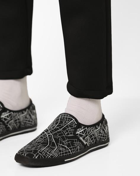 City Lines Printed Slip-On Shoes By Jack & Jones ( Black )