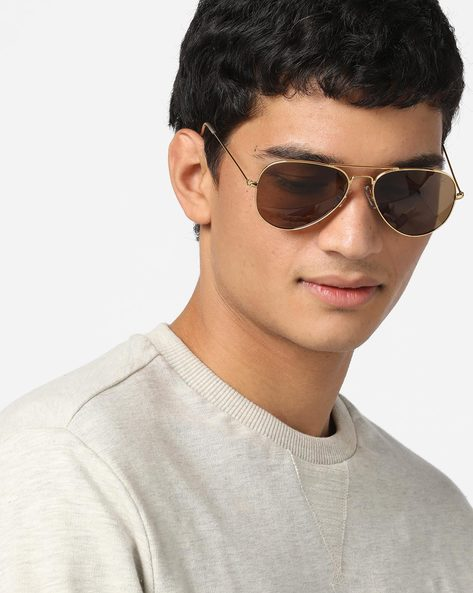 Aviators With Brow Bar By FLYING MACHINE ( Brown )