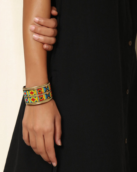 Adjustable Beaded Cuff By Indie Picks ( Multi ) - 460042585001