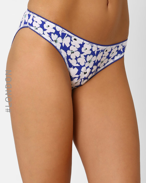 Pack Of 3 Assorted Panties By Marks & Spencer ( Indigo )