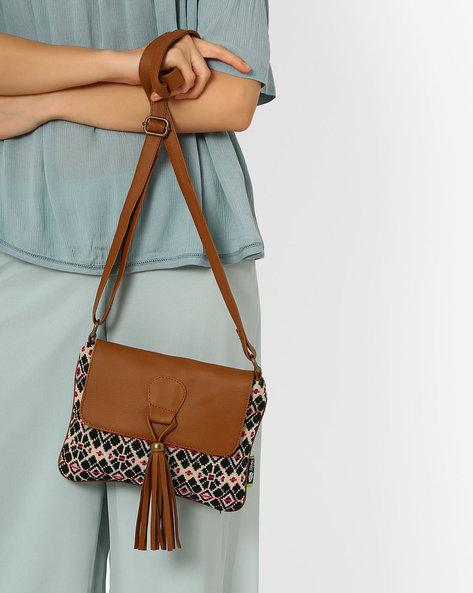 Jacquard Sling Bag By Kanvas Katha ( Beige ) - 460066528003