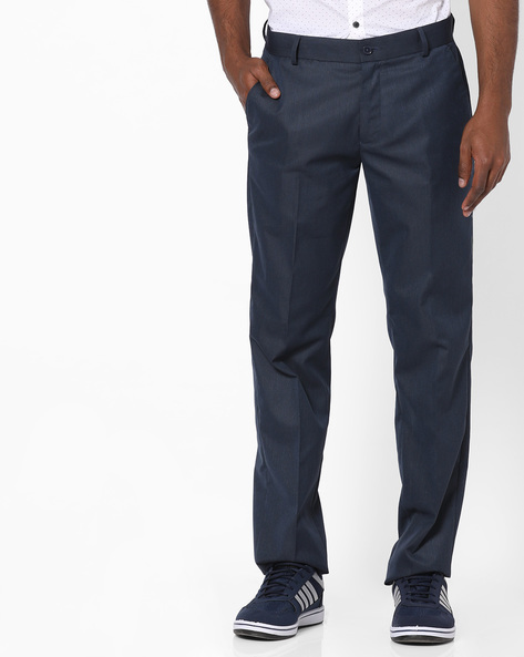 Slim Fit Casual Trousers By NETWORK ( Blue )