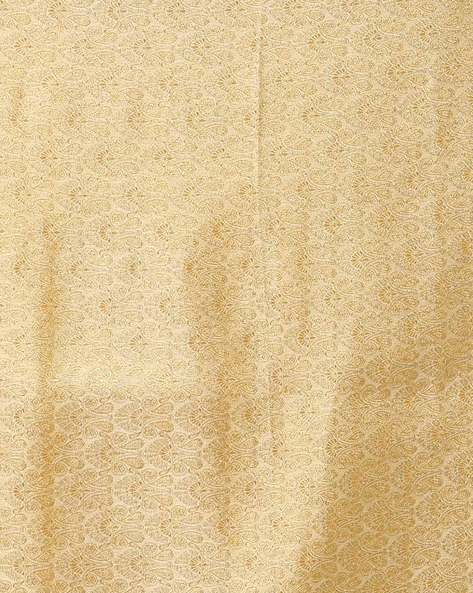 Half & Half Chiffon Saree With Embellished Border By Vastrangi ( Orange )