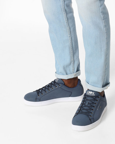 Duke Lace-Up Casual Shoes By British Knights ( Blue )