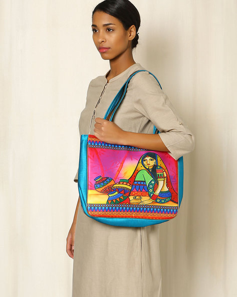 Digital Print Tote Bag By All Things Sundar ( Multi ) - 460040299001