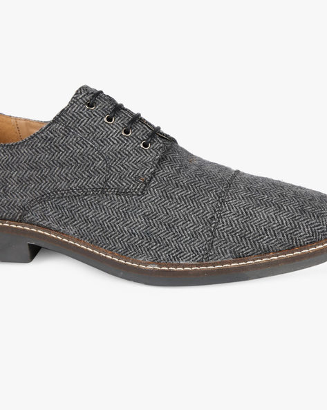 Low-Top Lace-Up Derby Shoes By Knotty Derby ( Grey )