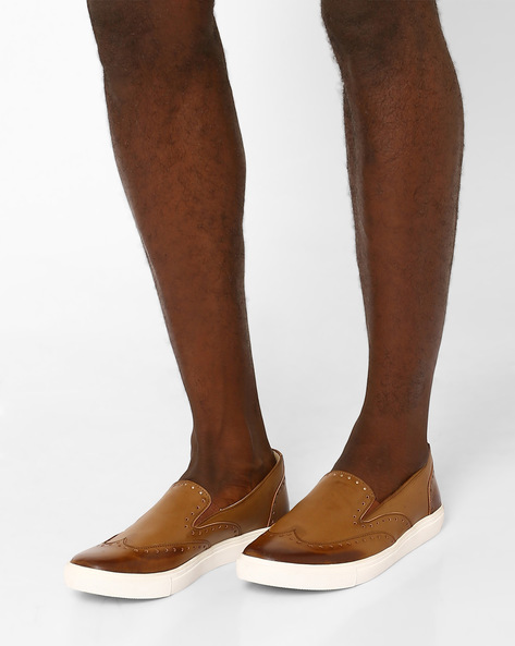 Loafers With Brogue Detailing By Knotty Derby ( Brown )